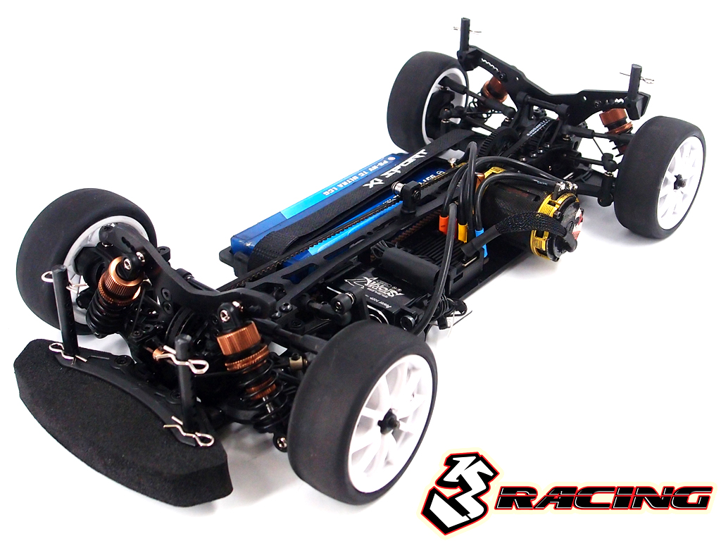 Integy RC Model SAK-U322 Graphite Composite Knuckle For 3racing Sakura Ultimate